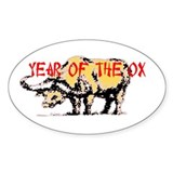 Year of the Ox Oval  Aufkleber