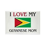 I Love My Guyanese Mom Rectangle Magnet