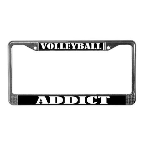 Volleyball Addict License Plate Frame