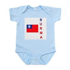 Burma Flag 2 Infant Bodysuit