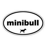 Minibull Oval Decal