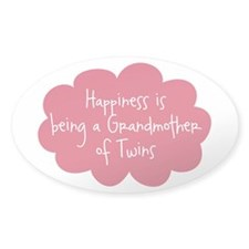 Grandmother of Twins Oval Decal