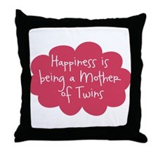 Mother of Twins Throw Pillow