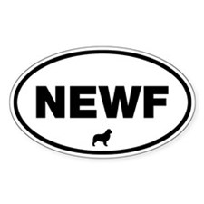 NEWF Oval Bumper Stickers