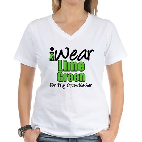 Lymphoma Grandfather Women's V-Neck T-Shirt