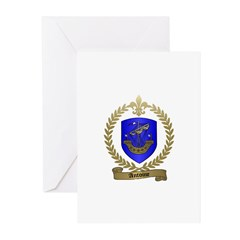 ANTOINE Family Crest Greeting Cards (Pk of 10)