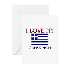 I Love My Greek Mom Greeting Cards (Pk of 10)