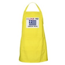 I Love My Greek Mom BBQ Apron