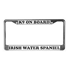 K9 Board Irish Water Spaniel License Plate Frame
