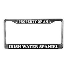 Property Irish Water Spaniel License Plate Frame
