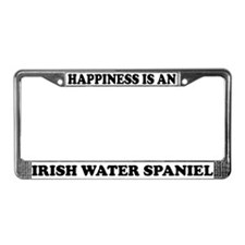 Happiness Irish Water Spaniel License Plate Frame