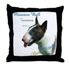 Mini Bull Best Friend 1 Throw Pillow