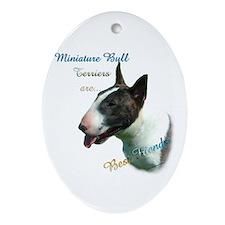 Mini Bull Best Friend 1 Oval Ornament