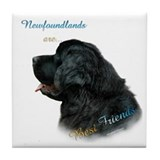 Newfie Best Friend 1 Tile Coaster