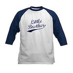 Little Brother (Blue Text) Kids Baseball Jersey