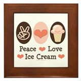 Peace Love Ice Cream Framed Tile