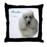 Poodle Best Friend 1 Throw Pillow