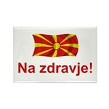 Macedonia Na zdravje Rectangle Magnet (10 pack)