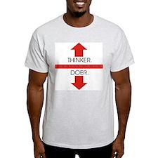 """Thinker Doer"" Ash Grey T-Shirt"