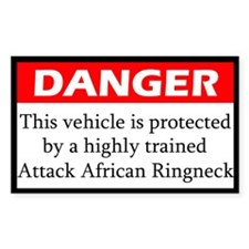 Danger Attack African Ringneck Decal
