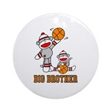Basketball Monkey Big Brother Ornament (Round)