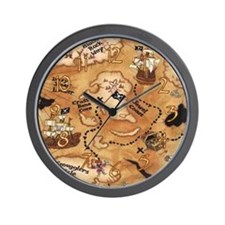Treasure Map Clock