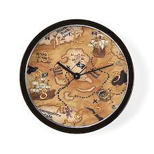 Treasure Map Clock