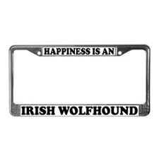 Happiness Is Irish Wolfhound License Plate Frame