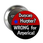 Stop Duncan Hunter Campaign Button