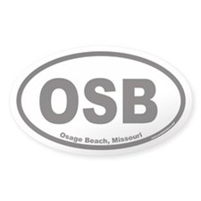 Osage Beach OSB Euro Oval Decal