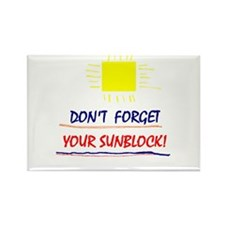 Sunblock Reminder Rectangle Magnet