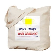 Sunblock Reminder Tote Bag