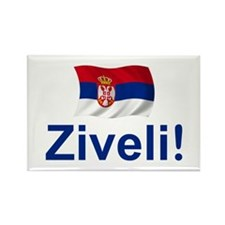 Serbia Ziveli Rectangle Magnet