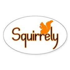 Squirrely Oval Decal