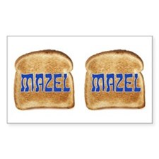 Mazel Toast Sticker with Two Images. Such a deal.