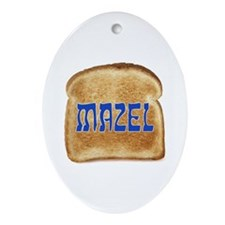 Mazel Toast Oval Ornament