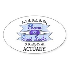 Actuary Really Oval Decal