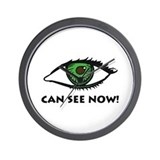 Eye Can See Wall Clock