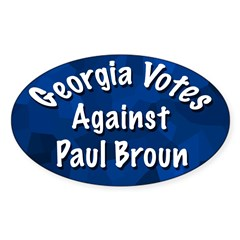 Georgia Votes Against Paul Broun sticker