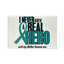 Never Knew A Hero 2 Teal (Mother) Rectangle Magnet