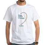 Dogs Need Change, Not Chains White T-Shirt