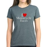 """I Love (Heart) Motorcycle Races"" Tee"