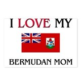 I Love My Bermudan Mom Postcards (Package of 8)