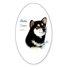 Black Shiba Best Friend 1 Oval Decal