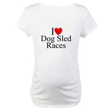 """I Love (Heart) Dog Sled Races"" Shirt"