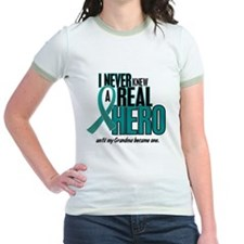 Never Knew A Hero 2 Teal (Grandma) T