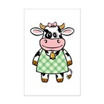 Dressed Up Cow Mini Poster Print