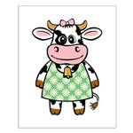 Dressed Up Cow Small Poster