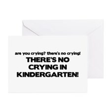 There's No Crying Kindergarten Greeting Cards (Pk