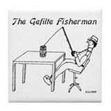 The Gefilte Fisherman Tile Coaster